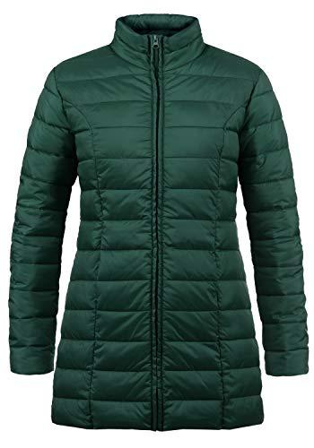 ONLY Britt Damen Steppmantel Übergangsmantel Lange Jacke gefüttert mit Stehkragen, Größe:L, Farbe:Ponderosa Pine