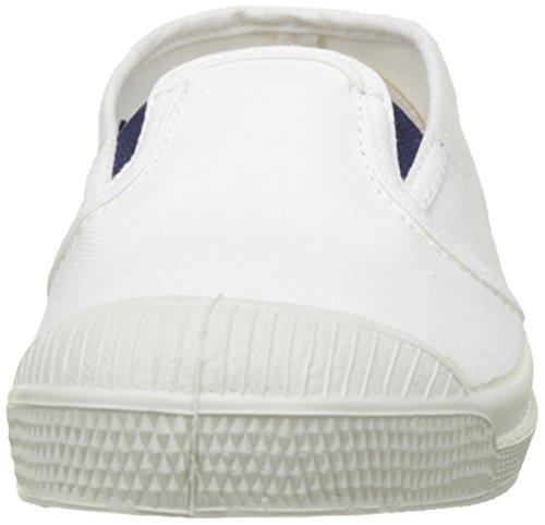 Bensimon Mädchen Tennis Tommy Bicolor Flach Weiß (Blanc)