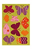 Arte Espina Teppich Spirit Glowy 3140 Multi Butterfly 110cm x 160cm