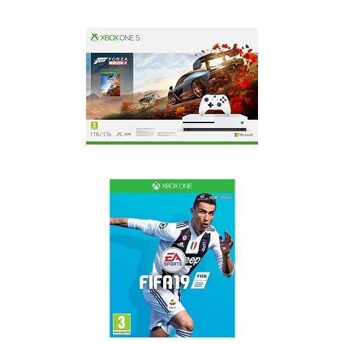 Xbox One S 1TB + Forza Horizon 4 + 14gg Xbox Live Gold + 1 Mese Gamepass [Bundle]+ FIFA 19