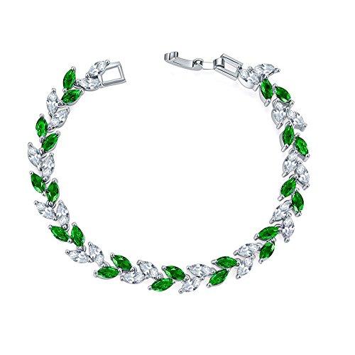 Wansan Bunt Kristallweizen Armbänder Damen Armkette Schmuck