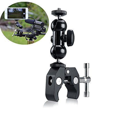 Fotosnow Kamera Klemme Magic Arm Kamera Halterung Kugelkopf Double Ball Adapter Super Clamp mit 1/4