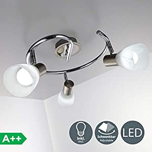 LED Deckenleuchte I 3-flammig I drehbar I schwenkbar I inkl. 3x 5 W LED Leuchtmittel l Decken-Lampe I E14 I IP20