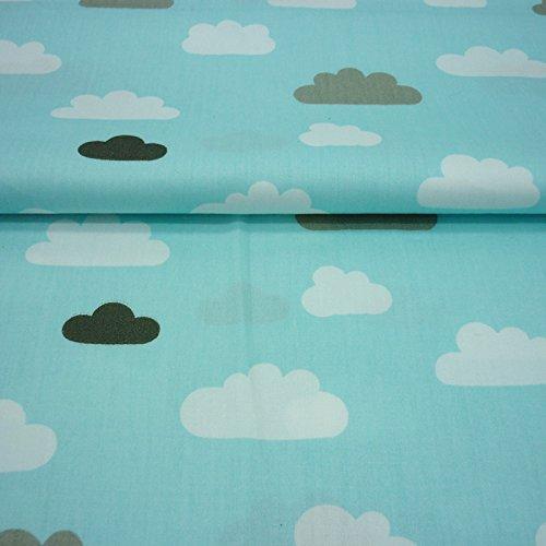 Einem Stück 50cm * 160cm Wolken Regentropfen Baumwolle Stoff Meter für Home Textil Baby Quilts Kissen nähen Stoff Material telas zu Patchwork rose (Rosa Rosen Stoff Quilt)