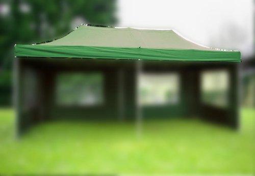 Nexos Pavillondach Ersatzdach Wechseldach für Profi Falt-Pavillon 3x6m - Dachplane 270g/m² PVC-Coating versiegelte Nähte wasserdicht - Farbe: grün
