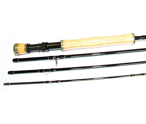 Fish Fishing Tackle 9 ft troutmaster X 4 Fliegen Angel