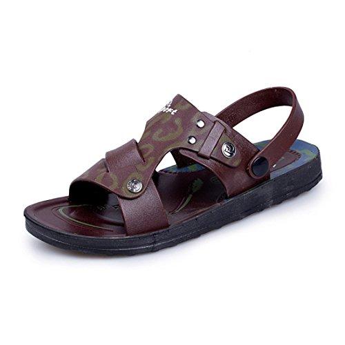 Men's PU Leather Sandalia Masculina Casual Sandals as picture 1
