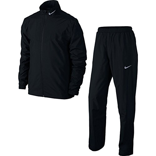 Nike Herren Hypershield Regenanzug, Black/Reflective Silver, XL -