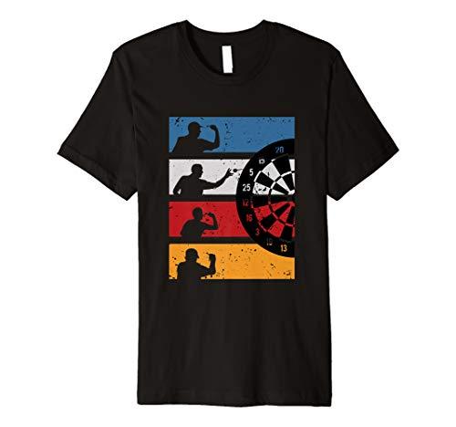 Vintage Dart Shirt Graphik Design Geschenk Für Dartspieler -