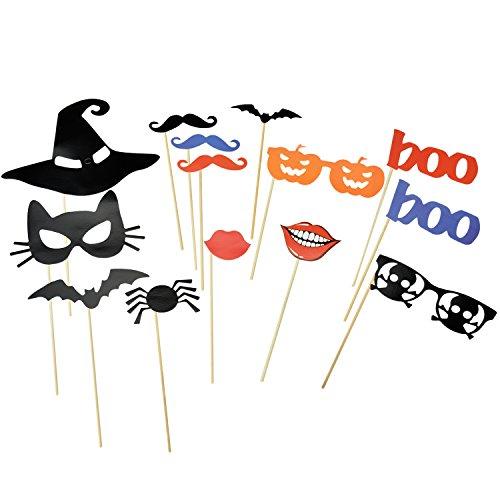 [14 Stück] Foto Booth für lustige Bilder | Foto Booth Requisiten | Fotografie | Foto-Zubehör, halloween kostüm damen, halloween dekoration, halloween maske (Lustige Diy-kostüme Für Halloween)