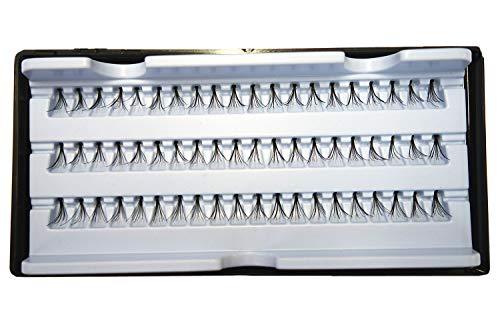3 Packungen Künstliche Wimpern 180x Büschel Einzel Wimpern Individual Lash Schwarz 8mm