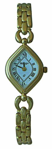 Bernex GB11121 - Reloj de mujer de cuarzo (suizo), correa de bañado en oro color blanco