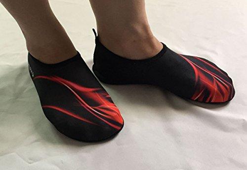 Panegy Chaussons de Sport Aquatique - Chaussure d'Eau / Plage / Bain / Plongée - Unisexe pour Homme Femme Piscine Beach Surf Natation Gym Yoga - Couleur et Taille au Choix Rouge
