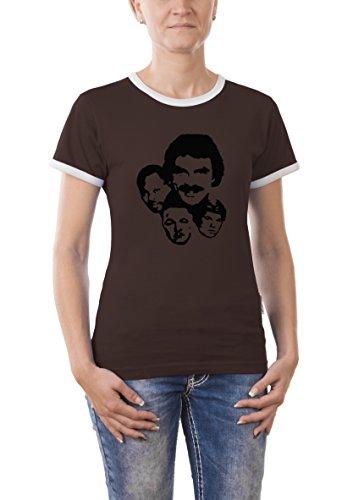 Touchlines - T-Shirt Magnum P.I., T-Shirt donna, Marrone (brown), L