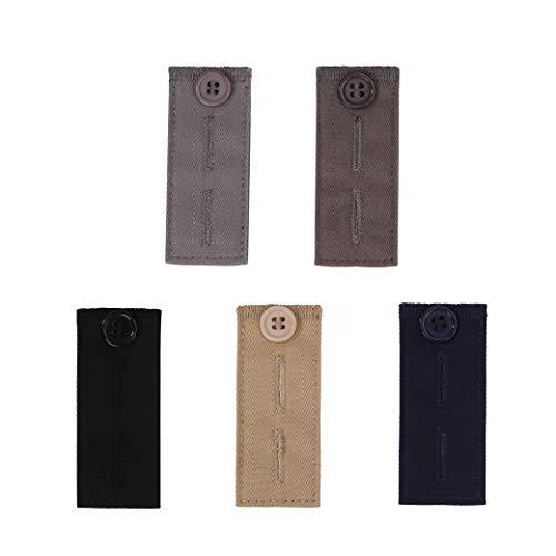 HONGXIN-SHOP Hosenerweiterung 5 Stück Hosen Erweiterungen Einstellbare Knöpfe Extender Taillenband Verlängerung für Jeans Shorts Hosen Schwangerschaftshosen Kleidung