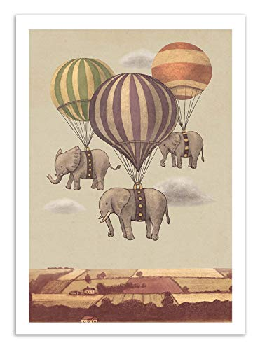 Art-Poster - Flight of the Elephants - Terry Fan - Art Print Terry