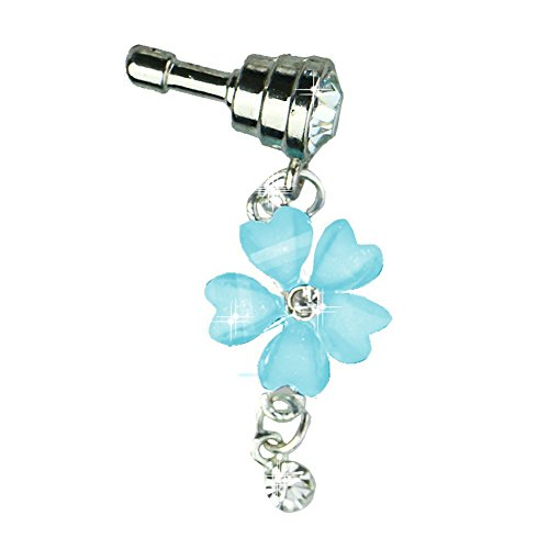 caolator-blume-blau-universelle-anti-dust-plug-35mm-strass-staubdichte-stecker-stopsel-crystal-diamo