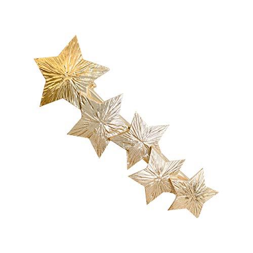 Yanhonin Haarspange, Vintage, Haarspange, Baum, Pailletten, Drawbench Star Leaf 1 -