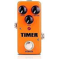 Guitarra eléctrica Mini Monoblock Efector Booster Temporizador Loop Leyel- Distorsión Sin Ruido LED Interruptor de