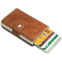 9bc6ac3d2cbef Kompaktes Kreditkartenetui Kartenetui Mini-Geldbörse RFID Schutz für Bis zu  8 Karten Portemonnaie