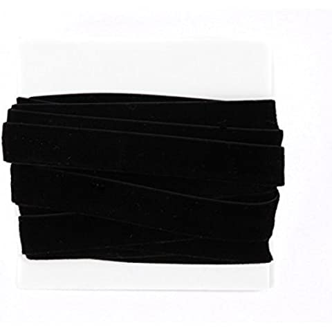 Velvet Ribbon Lace 5/8th Inch - 5 yard bundle - Black by Clothing BFF