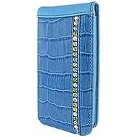 Piel Frama 595SWB Swarovski Ledertasche für Apple iPhone 5/5S blau