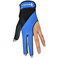 Mengonee transpirable suave antideslizante tiradores bola de piscina Deportes taco de billar 3 Guantes Dedos Individual Lycra