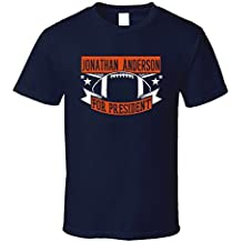 Jonathan Anderson For President Chicago Football Player Sports T Shirt XXXX-L