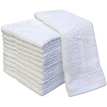 Pack de 12 toallas de manoplas de 100% algodón manoplas, manoplas 400 g/