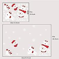 Artículos para el hogar creativos Pegatinas de Pared de Papá Noel Pasta de Pared Decoraciones para el hogar-Rojo y Blanco