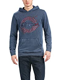 Desigual Ricardo - Sweat-shirt à capuche - Uni - Manches longues - Homme