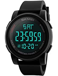 Vemupohal orologio da uomo 5 atm militare impermeabile LED digitale orologi per uomo calendario sveglia sport cronometro