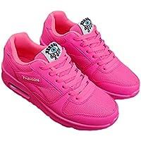 Zapatos para Caminar de Las Mujeres Lace Up Ladies Shoes Air Cushion Zapatos Casuales al Aire Libre Transpirable Ligero Tres Estaciones