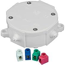 Caja de superficie para empalmes con tornillo y 4 conectores para cableado electrico 4439
