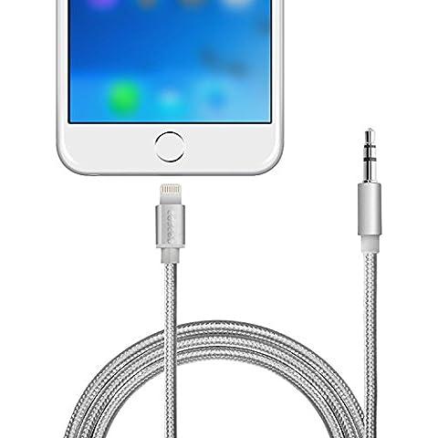 Para iphone 7/7Plus AUX Cable de audio, coscod Lightning a macho de 3,5mm macho Jack de auriculares Cable adaptador para altavoces de coche