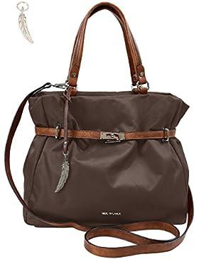 Damenhandtasche von Waipuna aus hochwertigem Nylon mit Schlüsselanhänger