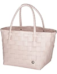 Unek Goods Handed By Paris Woven Reusable Shopping Tote Bag, Nude
