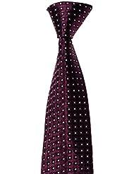 Krawatte von Mailando, mit Kachel - Muster, div. Farben schwarz, rot, gold, blau, silber…