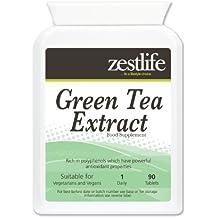 Zestlife Green Tea Extract ( 1000 mg - 90 Tabletas ) * NUEVO introductoria Producto Oferta Especial * Alto contenido de antioxidantes ; Pérdida de peso