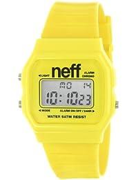 Neff NF0204YLLW - Reloj digital de cuarzo unisex con correa de plástico, color amarillo