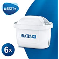 BRITA MAXTRA+ Water Filter Cartridges, Compatible with BRITA Jugs, Helps with Reduction of Limescale and Chlorine, Pack of 6