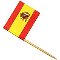 Spanish Flag Cocktail Picks - Set of 24 - Disposable Buffet Sticks