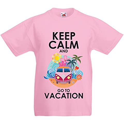 N4442K La camiseta de los niños Keep Calm and Go to Vacation