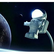 SUMERSHA LED USB lampada di astronauta Luce Notturna Lampada di notte lampada da comodino bianco