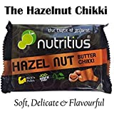 Nutritius Hazelnut Butter Chikki, 125 Grams (Pack of 10) - Family Pack