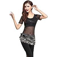 YiJee Danse du Ventre pour Femme Danse Orientale Tops avec Pantalon Costume