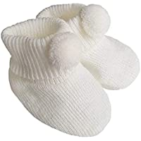 Soft Touch Pom Pom booties bootees (One Pair)