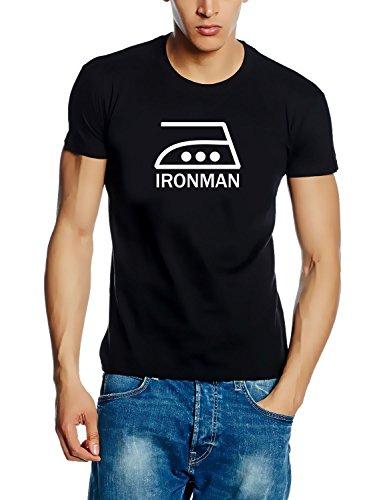 IRONMAN T-SHIRT - schwarz-weiss Gr.M (T-shirt Beratungs-schwarz)