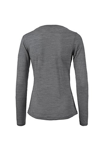 super. Natural T-shirt pour femme W Base LS 140 Quiet Shade Melange