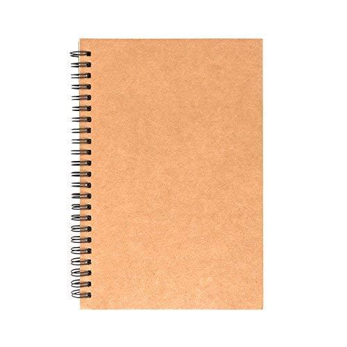 AIEX Espiral Sketchbook Cuaderno Dibujo Kraft Bloc de Dibujo Album Scrapbooking para Adultos y Niños(100 Páginas, 8' x 5.5')